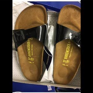 Birkenstock Madrid Sandals Narrow 37 Glossy Black
